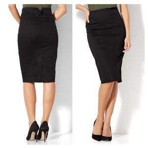 NY&Company Lace up Pencil Skirt